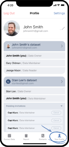 healthsync data owner step