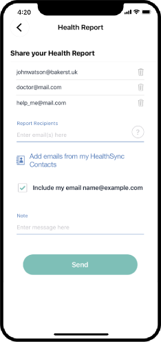 healthsync email report