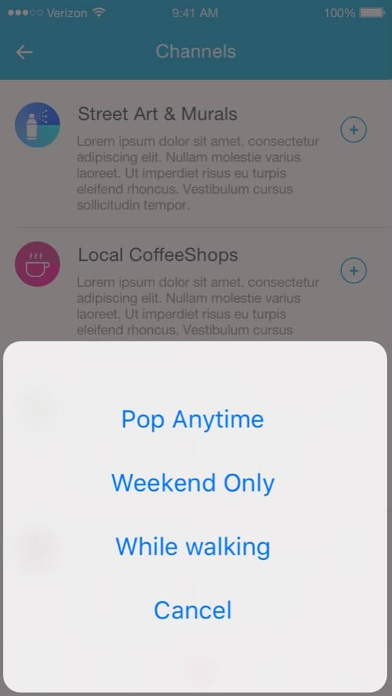 socialgeoapp options
