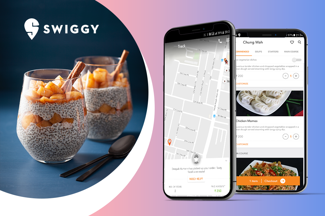 food delivery service app - Swiggy