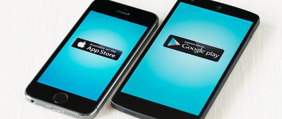 google play store or app store