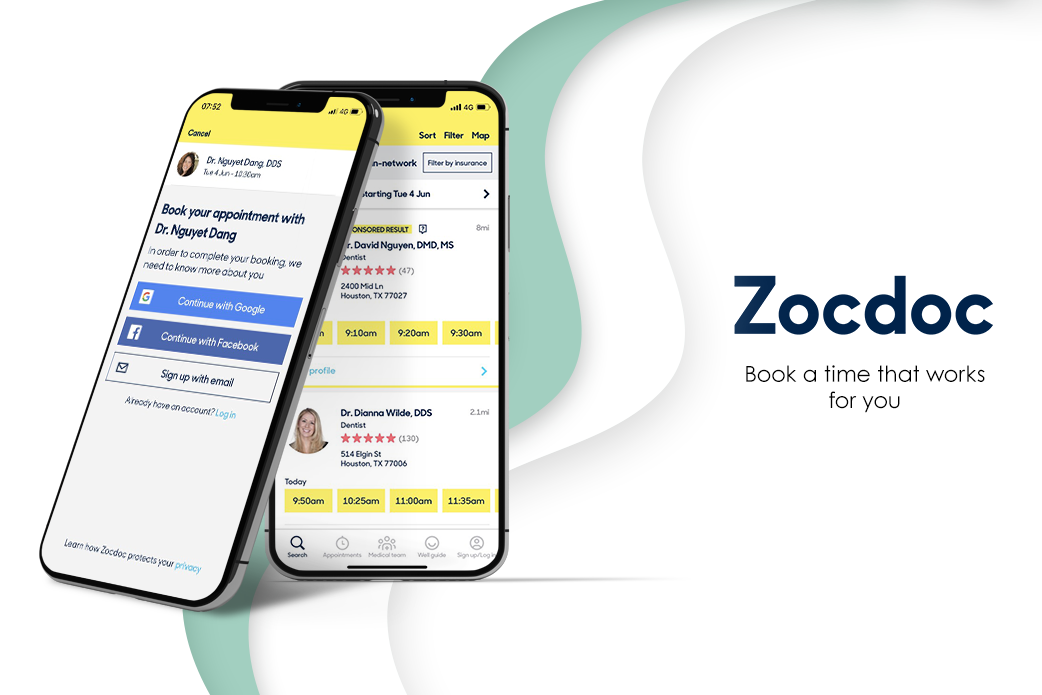 appointment booking app Zocdoc