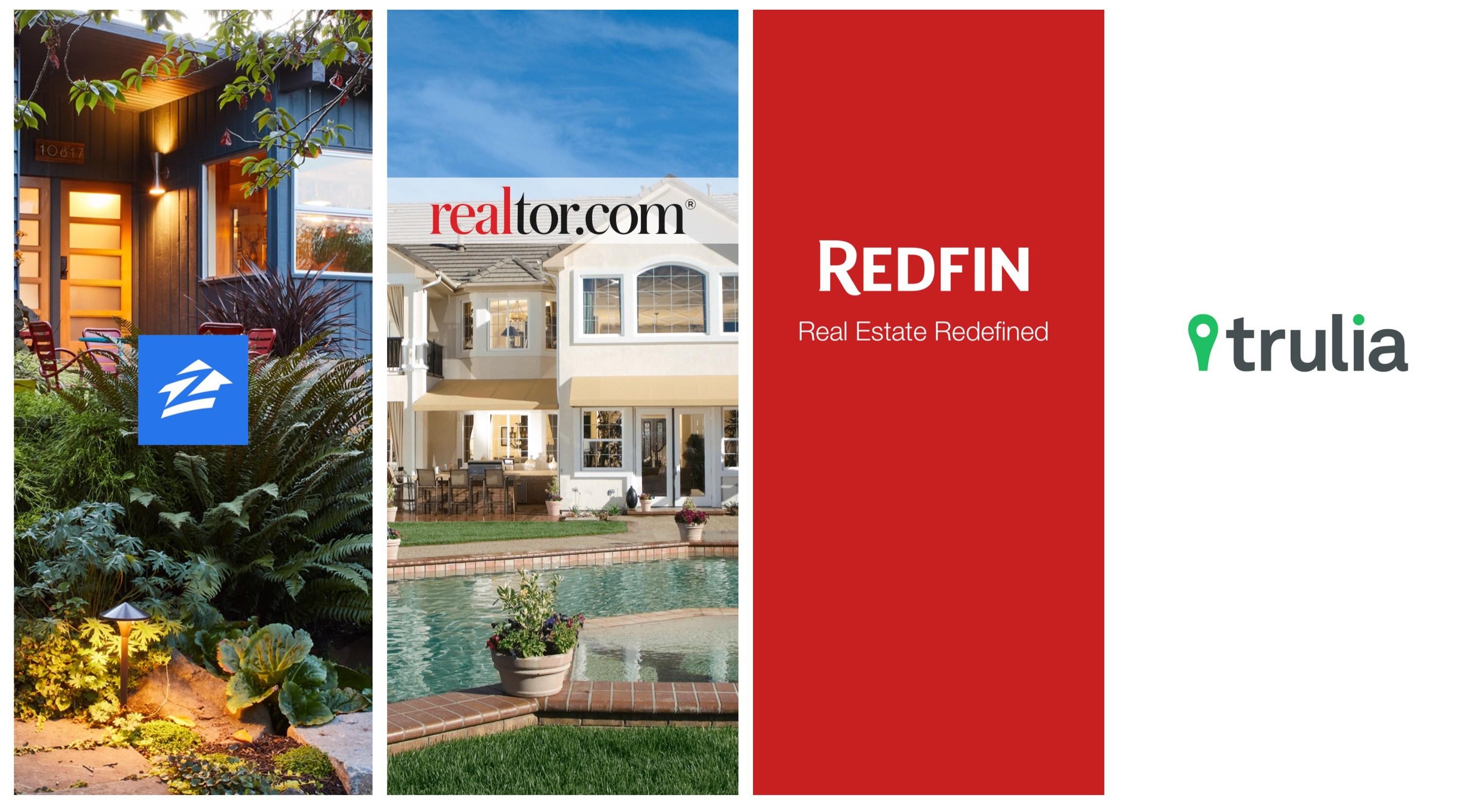 Zillow Realtor Redfin Trulia