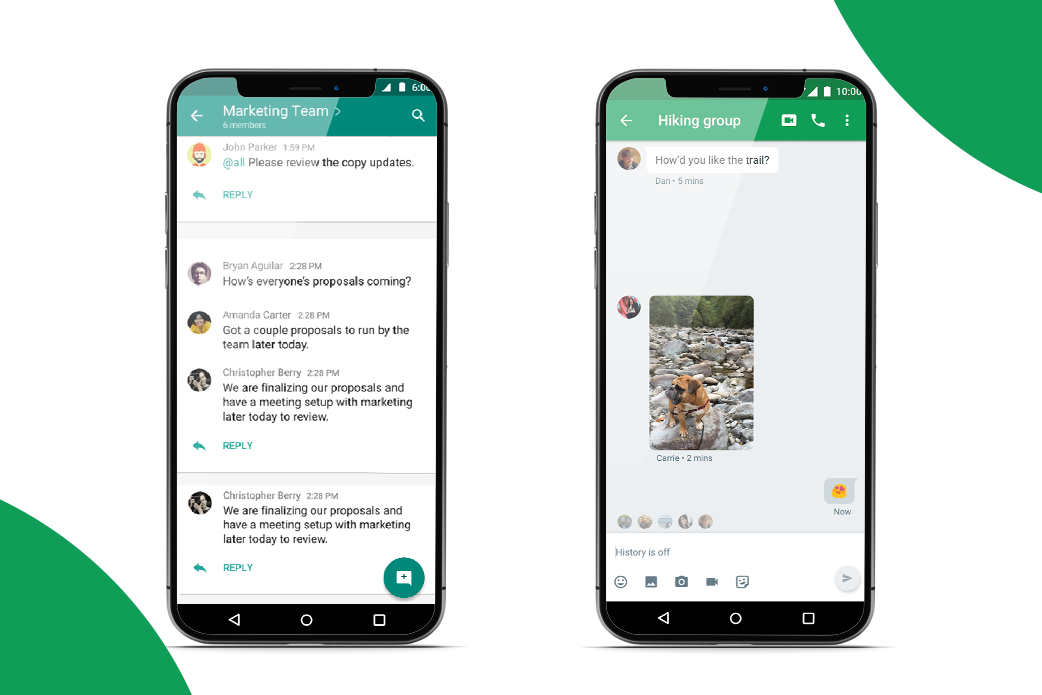 video chat web app features