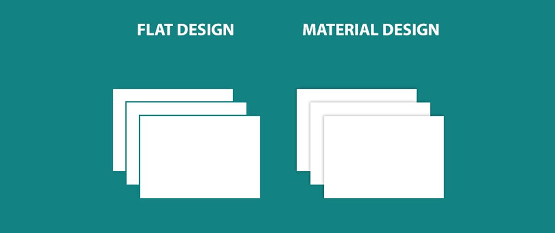skeuomorphism vs flat design vs material design