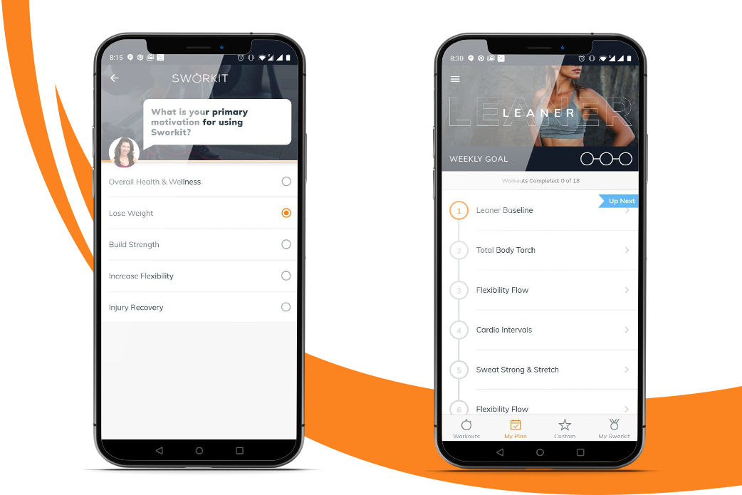 fitness app features