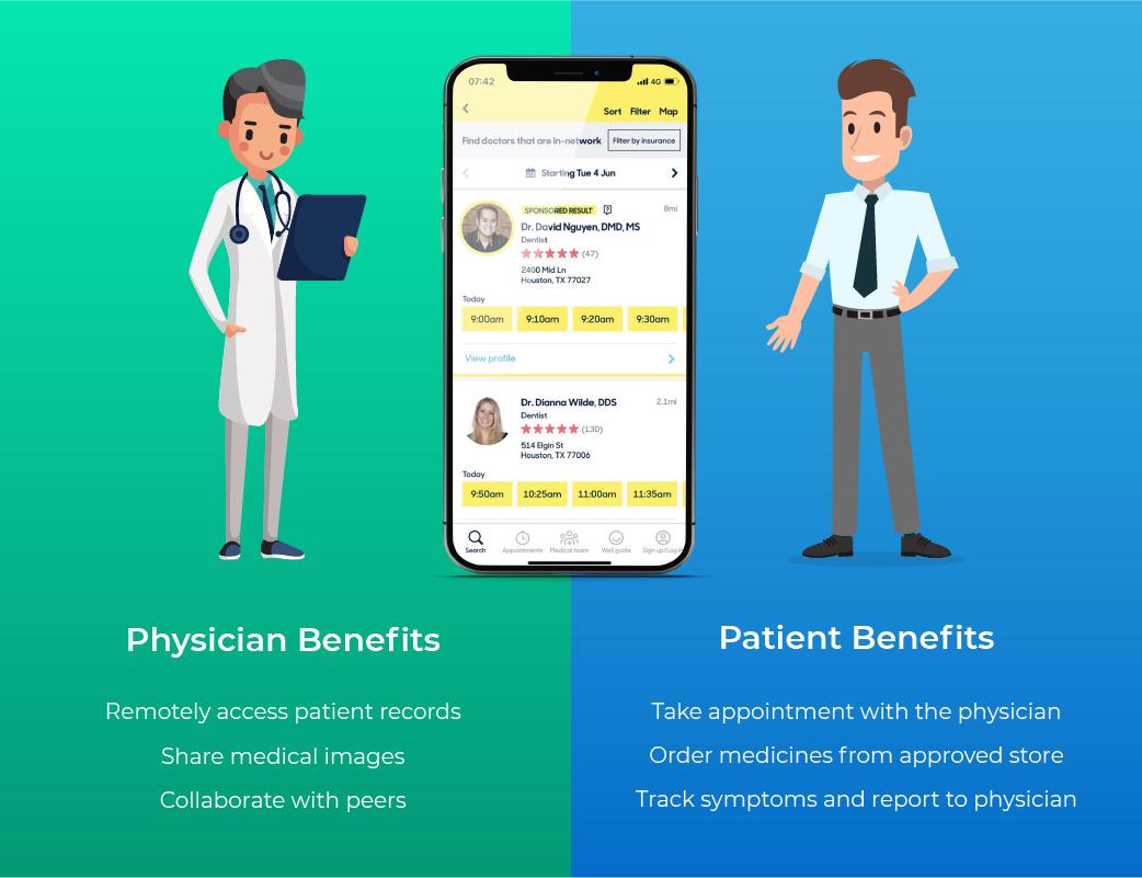medical app for doctors benefits