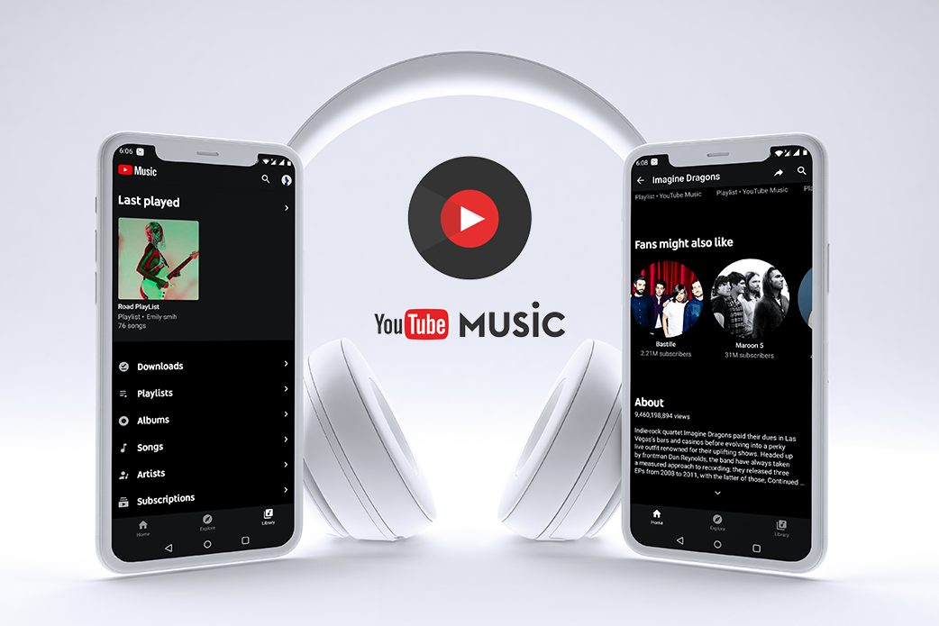 music streaming applications - YouTube