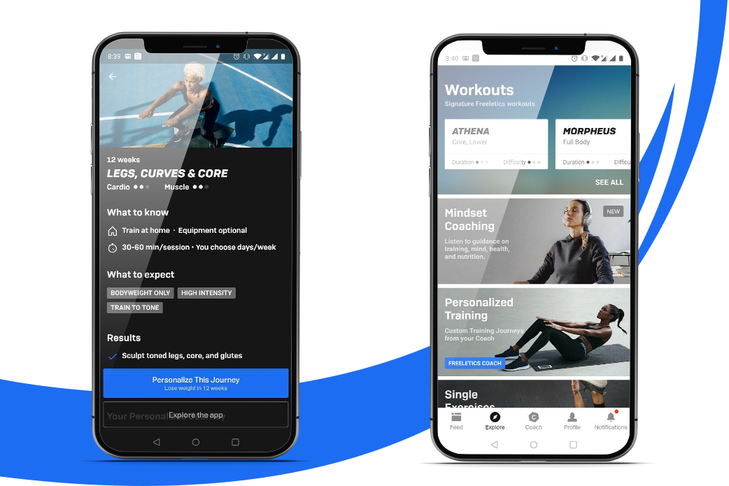 fitness application features